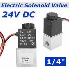 "1/4"" 24V NPT Electric Solenoid Valve 2 Way Normally Closed Air Water Oil Fast"