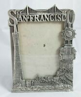 """VINTAGE Fashion Trends WA Pewter Style 5""""x7"""" Picture Frame San Francisco"""