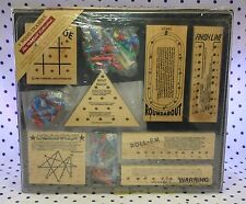 Woodfield Collection 7 Wood Brain Teaser Games Bar Restaurant NEW FACTORY SEALED
