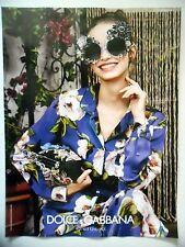PUBLICITE-ADVERTISING :  DOLCE & GABBANA  2016 Mode,Lunettes,Fleurs