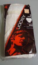 Nos Vtg Jockey White 100% Combed Cotton Briefs sz 32 Tighty White Oldstock Usa