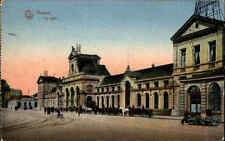 1916 Feldpostkarte Westfront Belgien Namur Namür La Gare Bahnhof Soldaten davor
