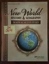 SH36-14 * 6TH GRADE, A BEKA, NEW WORLD HISTORY & GEOGRAPHY MAPS & ACTIVITIES