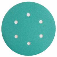 """6"""" Sanding Disc Grit 40 - 600 Random Orbital Orbit 6 HoleHook & Loop Sandpaper"""