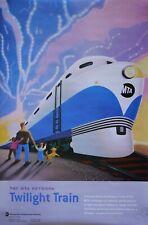 """Rare New York City Nyc Mta Subway Poster """"Twilight Train"""" 30 x 46 (Never Folded)"""