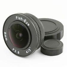 "8mm f/3.8 CCTV C Mount Fisheye CCTV Objektiv körper für 4/3"" Kamera Micro M4/3"