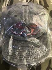 mint vtg QVC GEOFF BODINE #7 NASCAR Snapback HAT CAP heather grey/gray