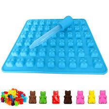 50 Gummy Maker Cavity Bear Mold Novelty Silicone Chocolate Candy Ice Hot Tray ~