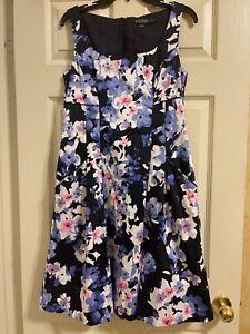 Lauren Ralph Lauren Floral Dress with Pockets Women's Size 10