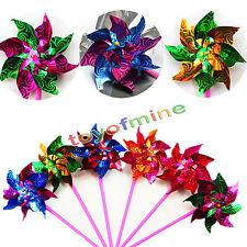 1 Jardín molino de viento Flor Niños Juguete Navidad Jardín Ornamento DIY New BC