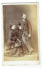 Victorian cdv photo young couple man standing Liverpool photographer
