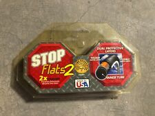 2 STOP FLATS ANTI-FLAT//PUNCTURE BICYCLE TIRE LINERS 700x23-25,PAIR