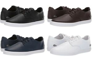 Lacoste Esparre BL 1 Men's Casual Leather Shoes Sneakers Black Navy White New