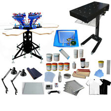 6 Color Silk Screen Press wiht Exposure Unit & Flash Dryer Screen Printing Kit