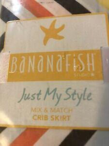 Banana Fish Just My Style Crib Skirt NIP