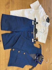 John Lewis Boys Short Suit Set Worn Once