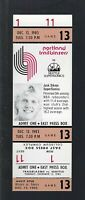 VINTAGE 1983-1984 NBA SEATTLE SONICS @ TRAILBLAZERS FULL TICKET - JACK SIKMA