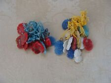 1930's VTGE Japan Glass CAMEO CHARMS Cracker Jack Charm Toy Prize Lot of 24 #A