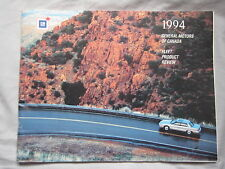 1994 General Motors of Canada Fleet Product Review Brochure