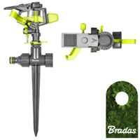 Kreisregner mit Erdspieß Sprinkler Impulsregner Rasensprenger BRADAS 2150