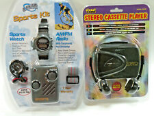 Stereo Cassette Player AM/FM Radio with Sports Watch Factory Sealed NIB MOC