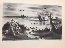 "A Treasury of American Prints, Arnold Blanch ""Duck Hunter"", 9 1/4"" x 11 1/2"""
