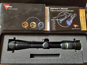 Trijicon TR20G AccuPoint 3-9x40 Tritium Green Triangle Rifle Scope