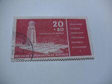 MNR 538 DDR 1956 Buchenwald PF dicker tropfenartiger Stein o Tagesstempel