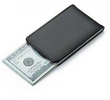 Magnetic Money Clip Genuine Leather Minimalist Money Clip- Mens Strong cash