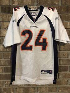 Champ Bailey Denver Broncos NFL Football Jersey Size L Youth Reebok #24 Rare