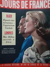 revue JOURS DE FRANCE  N° 114  de 1957 GRACE de MONACO-ALGER-EDDIE CONSTANTINE