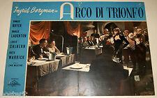 fotobusta originale ARCO DI TRIONFO Ingrid Bergman Lewis Milestone 1958