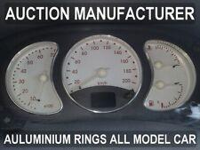 Renault Kangoo 1998-2003 Dash Instrument Chrome Rings Polished Aluminium 3pcs