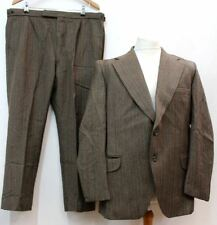"HEPTON Men's Multi-Coloured Wool High Rise Single Breasted Suit 44"" Chest W40"