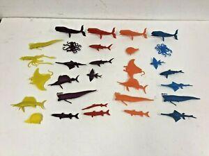 Vintage 60s MPC Sea Animal Toy Lot nabisco cereal premium Sperm Whale Sail Fish