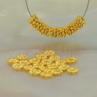 Lot 20 Daisy Bali Spacer 3.5mm Beads 0.89 g Gold Vermeil 24K on Sterling Silver