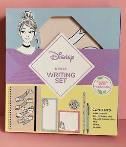 Disney 6-piece Disney Princesses Writing Set 3 X Notebook/pads-pen-pencil-eraser