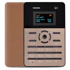 Mini 4mm Ultra Thin Pocket tiny Phone AIEK Q1 Card Mobile Phone Alarm Clock NEW