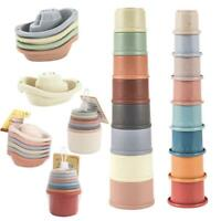 Learning Educational Toys Wooden Toys Stacking Ring Tower Blocks Funny Nice