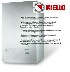 RIELLO CALDAIA A CAMERA APERTA START AQUA 28/60 BI - METANO