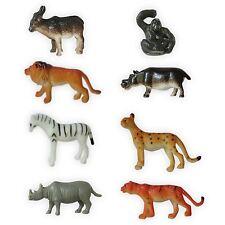 8 Plastic Zoo Figure Jungle Wild Animals Childrens Toys Party Bag Favour Set