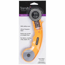 Impex Heavy Duty Large Rotary Cutter 2 Blades Fabric/Paper/Leather/Vinyl 45mm