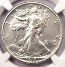 1918 Walking Liberty Half Dollar 50C - Certified NGC AU Details - Rare Date!