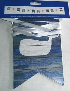 NAUTICAL BANNER  12 FT LONG Assorted Nautical Flags/Whale,Ships Wheel,Anchor