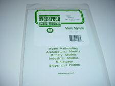 """Evergreen Styrene White Sheet Plastic .080  6"""" x 21"""" long 2 Sheets # 9107 Pack"""