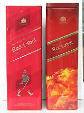 2pc Johnnie Walker Red Label empty tin box case scotch whisky Scotland used rare