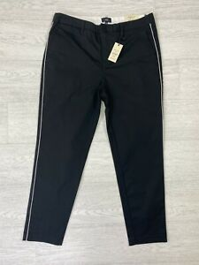 River Island Mens Black Skinny Fit Ankle Grazer Chino Trousers W32 L30