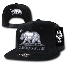 WHANG California Corduroy Republic Monster Bear 6 Panel Snapback Caps