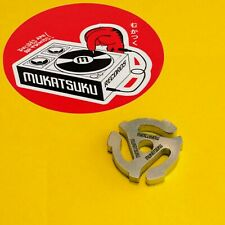 Mukatsuku Engraved 45 RPM ADAPTER Chunky Pattern for Technics SL1200 and Others