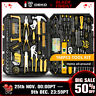 168 Pcs Hand Tool Set General Household Hand Tool Kit with Plastic Toolbox